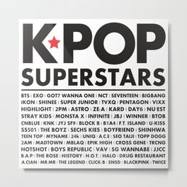 KPOP Superstars Original Boy Groups Merchandse Metal Print