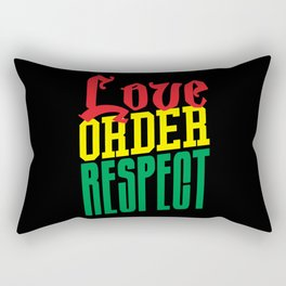 Love Order Respect Rectangular Pillow