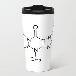 caffeine chemical formula Metal Travel Mug