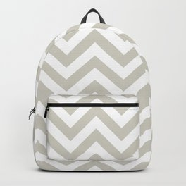 Wolf Gray Chevrons Pattern Backpack