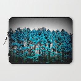Turquoise Trees Gray Sky Laptop Sleeve