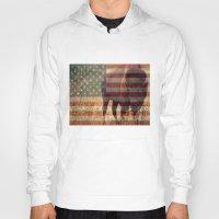patriotic Hoodies featuring Patriotic Bison  by IndigoGallery
