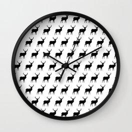 Deer Silhouettes Wall Clock