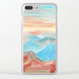 Lines in the mountains XX Clear iPhone Case