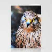 falcon Stationery Cards featuring Falcon by Amee Cherie Piek
