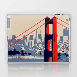 Golden gate bridge vector art Laptop & iPad Skin