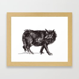 In Every Story the Wolf Comes At Last Framed Art Print