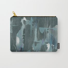 Blue and Green Abstract Acrylic Painting Carry-All Pouch