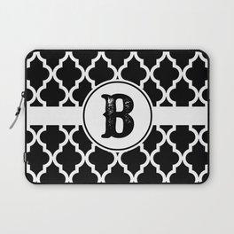 Black Monogram: Letter B Laptop Sleeve