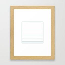 #371 Fibonacci sky – Geometry Daily Framed Art Print