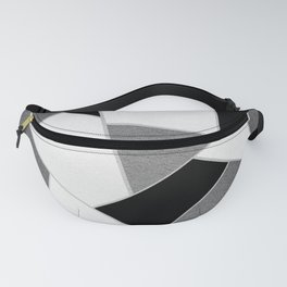 Gray Black White Geometric Glam #1 #geo #decor #art #society6 Fanny Pack