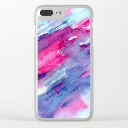 Melting colors || watercolors Clear iPhone Case
