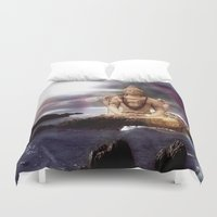 shiva Duvet Covers featuring Lord Shiva by Aurelaan