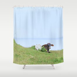 Rosa Cow Shower Curtain