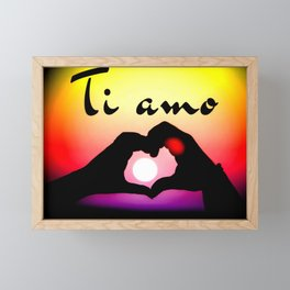 Ti amo in popart Framed Mini Art Print