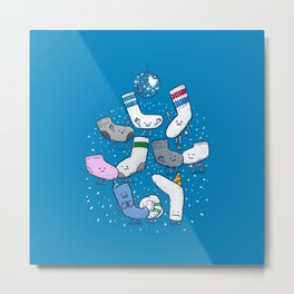 Lost Sock Party Metal Print