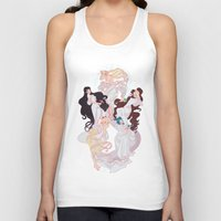 mucha Tank Tops featuring Sailor Mucha by Dixie Leota