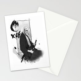 Samurai Skullface Stationery Cards