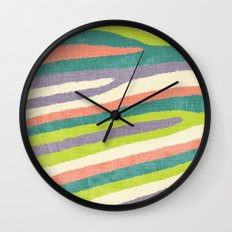 Fruit Stripes. Wall Clock