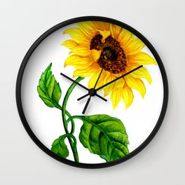 Summer Spring Sunflower Wall Clock