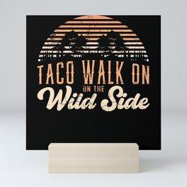 Eating food funny outside shirt motiv Mini Art Print
