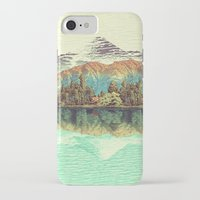 calm iPhone & iPod Cases featuring The Unknown Hills in Kamakura by Kijiermono