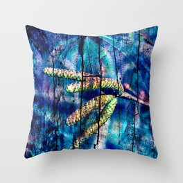 Blue Archetypal Poetry Throw Pillow
