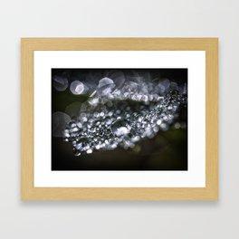 Raindrop world Framed Art Print