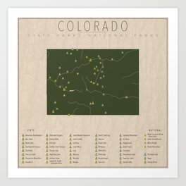 Colorado Parks Art Print