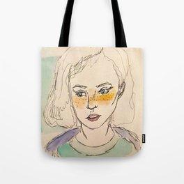 Freckled girl Tote Bag