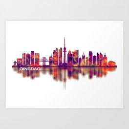 Qingdao China Skyline Art Print