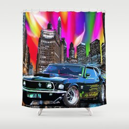 colorful muscle Shower Curtain