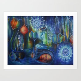 """""""Where there is life there is hope"""" an original painting on canvas by Katrina Koltes Art Print"""