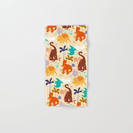 jurassic classic pattern Hand & Bath Towel