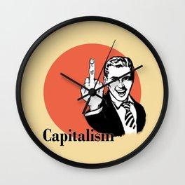 Fuck capitalism Wall Clock