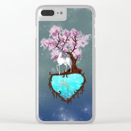 Lonely Unicorn Clear iPhone Case