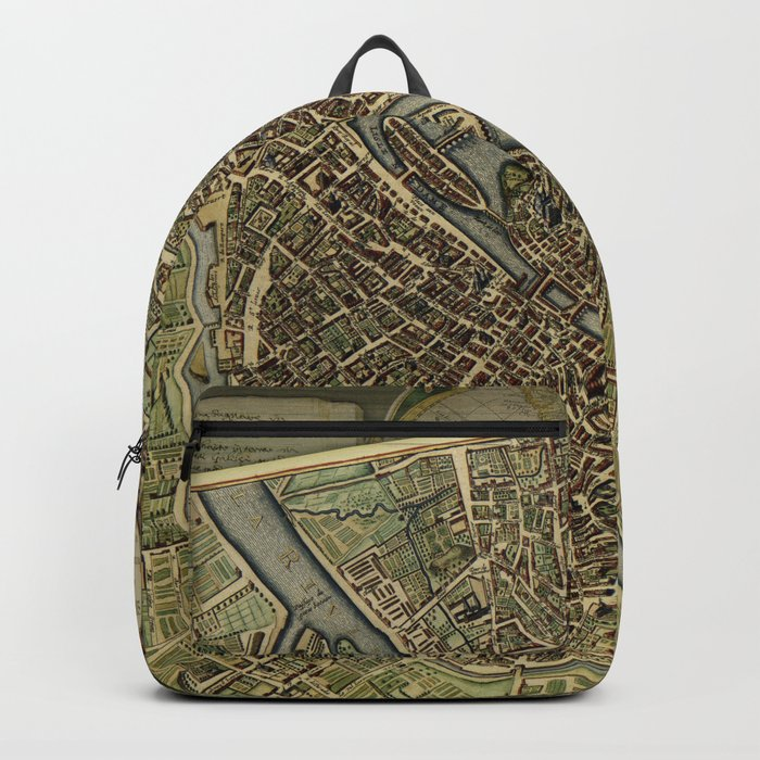 Old Paris Map and other manuscripts Backpack