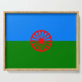 Flag of romani people Serving Tray