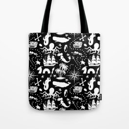 High Seas Adventure // Black Tote Bag