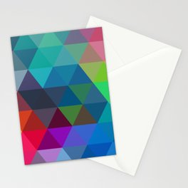 Colorful Polygon Mosaic Geometric Abstract Stationery Cards