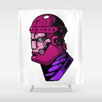 xmen Shower Curtains featuring x8 by jason st paul