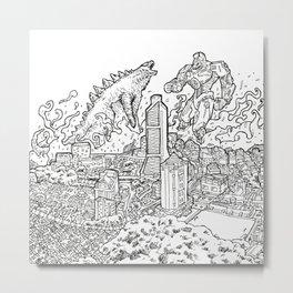 DINOvsROBOTROOPER Metal Print