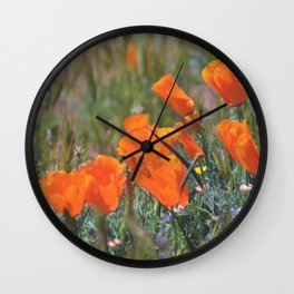 Pack of Poppies Wall Clock