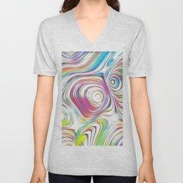 Pastel Waves Unisex V-Neck