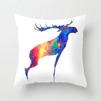 moose Throw Pillows featuring Moose by Verismaya
