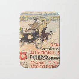Plakat genf erste schweizerische automobil Bath Mat