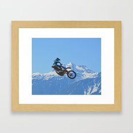 Revelstoke Ride - MotoX Racing in British Columbia Framed Art Print
