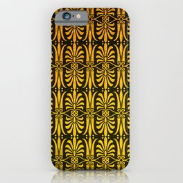 Art Deco Pattern: Still Sipping Cognac At Dawn iPhone Case