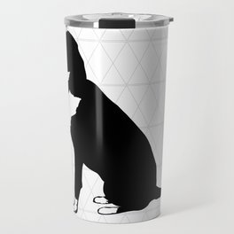 Geometric dog Travel Mug