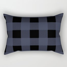 Blue Buffalo Plaid Rectangular Pillow